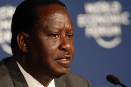 Kenias Präsidentschaftskandidat Raila Odinga. Foto: World Economic Forum